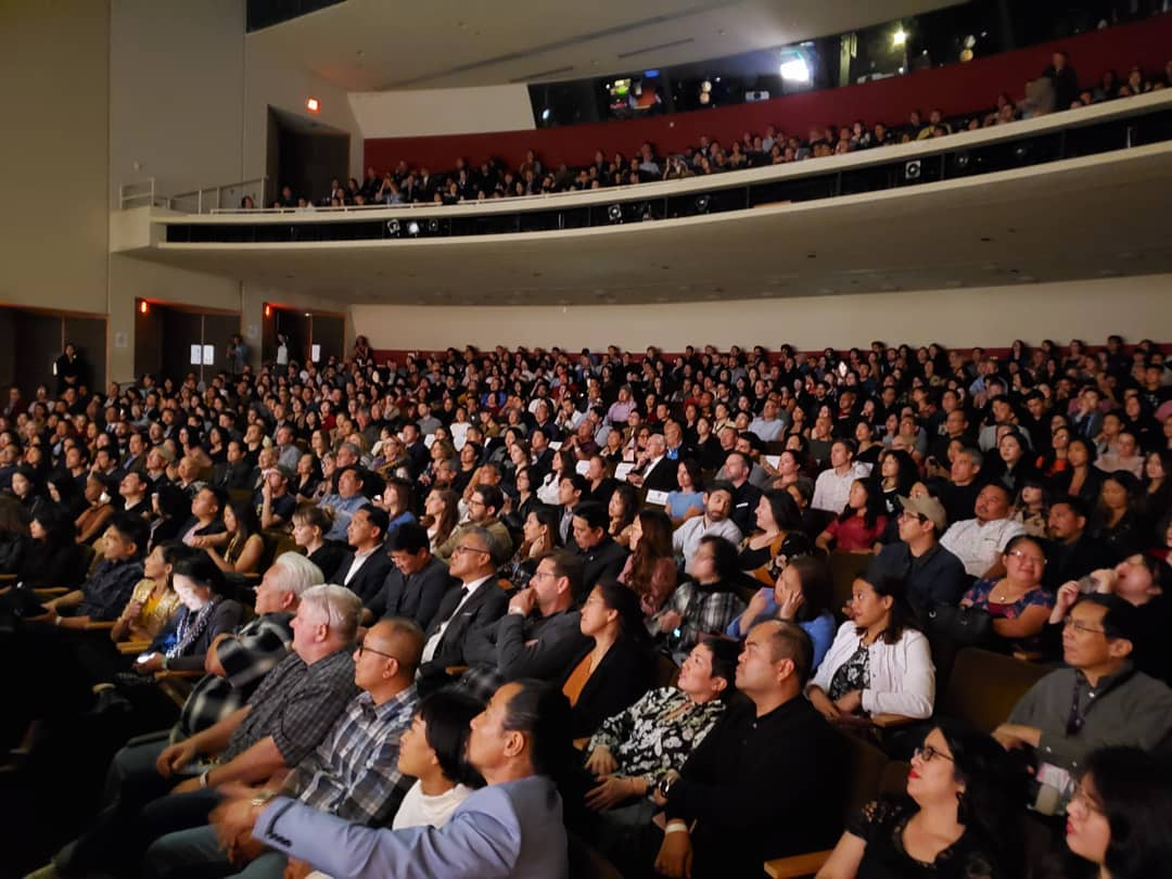 Closing Night crowd in Aratani Theater in Los Angeles Little Tokyo